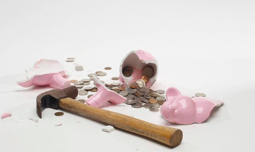 it is time to budget when you have to break the piggy bank
